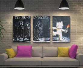 The Mild Mild West 3-Piece Banksy Art Set