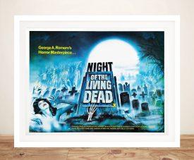 Night of the Living Dead Framed Vintage Poster