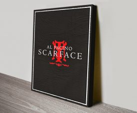 Scarface Movie Poster Canvas Wall Art