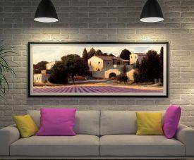 James Wiens Lavender Fields Canvas Wall Art