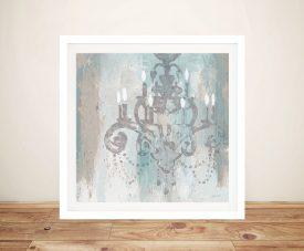 Candelabra Teal ll Framed Canvas Artwork