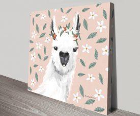 Delightful Alpacas Premium Canvas Print