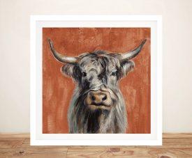 Highland Cow Framed Silvia Vassileva Artwork