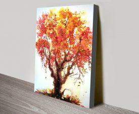 Autumn Jewels Vibrant Canvas Wall Art