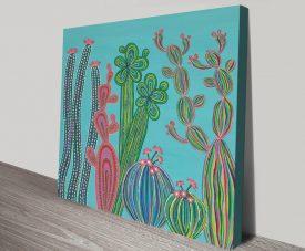Cactus Party No.4 Playful Canvas Print