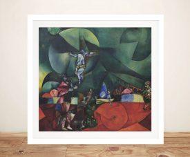 Calvary Framed Marc Chagall Canvas Print