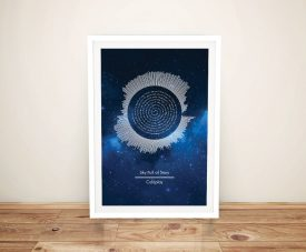 Framed Coldplay Soundwaves & Lyrics Art