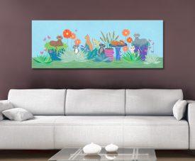 Garden Cats Fun & Colourful Canvas Art