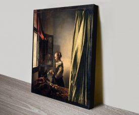 Girl Reading a Letter Art by Johannes Vermeer