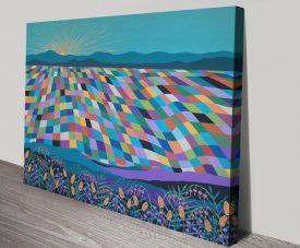 Hello Sunshine Summery Abstract Landscape Art