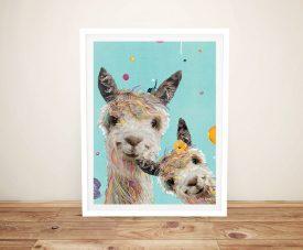 Buy a Framed Llama Sisters Playful Print