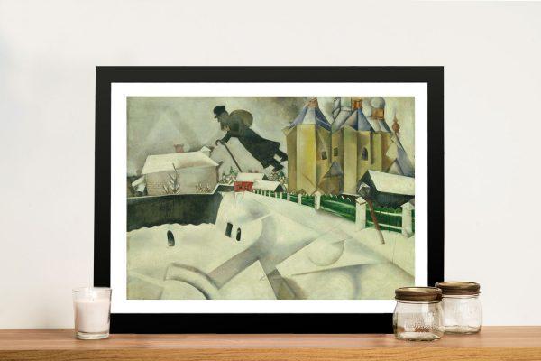 Framed Marc Chagall Over Vitebsk Wall Art