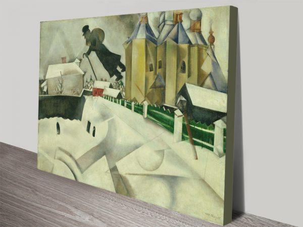 Over Vitebsk Canvas Art Great Gift Ideas Online