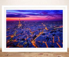 Paris at Dusk Ready to Hang Canvas Print