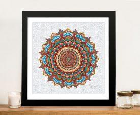 Framed James Wiens Mandala Dreams Print