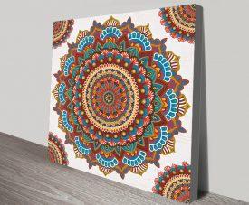 Buy a Mandala Dream Stretched Canvas Print