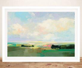 Framed Summer Sky l Quality Canvas Print