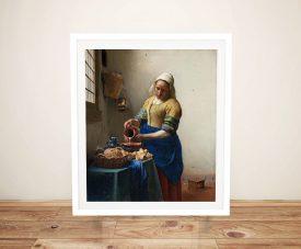 Buy The Milkmaid Wall Art by Johannes Vermeer