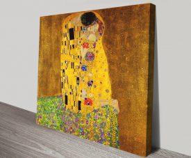 The Kiss by Gustav Klimt Print on Canvas