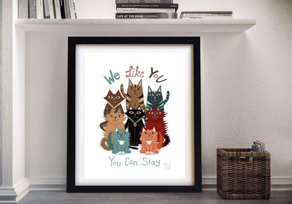 Framed We Like You Animal Wall Ar for Sale AU
