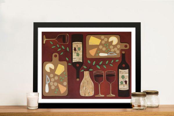 Wine O'Clock Art Dining Room Decor for Sale AU