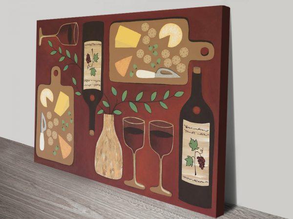Buy Wine O'Clock Playful Abstract Wall Art