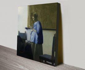 Woman Reading a Letter Vermeer Art Print