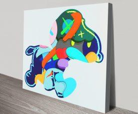 KAWS Stay Steady 2015 Print on Canvas