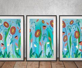 Blooming Abundance Triptych Canvas Art Set
