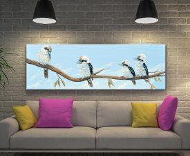 Master Kookaburra Hangout Panoramic Art