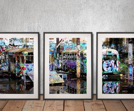 Magic Bus Tram Graffiti Art by Steve McLaren