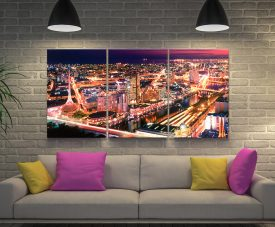 Melbourne Night Split Panel Peter Lik Prints