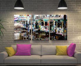 Mirrors Steve McLaren Triptych Tram Artwork