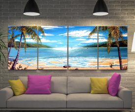Paradise Long Island 4-Piece Wall Art