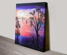 Purple Moon Linda Callaghan Landscape Art