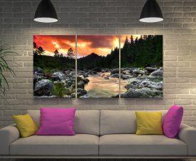 The Peaceful Woods 3-Piece Landscape Art Set