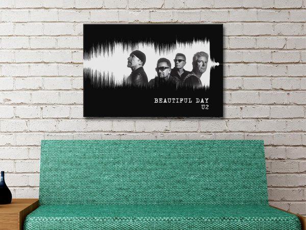 U2 Soundwave Art Wedding Gift Ideas AU
