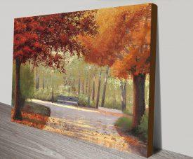 Buy Autumn Stroll James Wiens Canvas Print