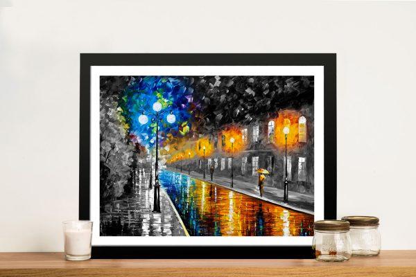 blue lights afremov colour splash Art