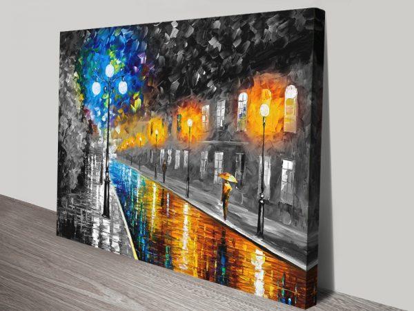 Blue Lights Colour Splash Leonid Afremov Art