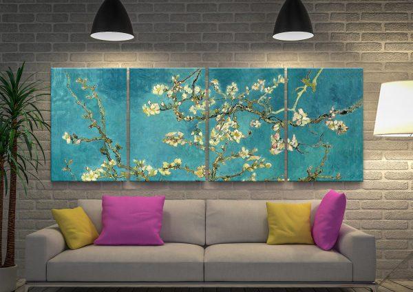 Classic Floral Split-Panel Art Home Decor Ideas AU