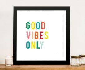Good Vibes Only Playful Ann Kelle Wall Art