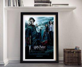 Framed Harry Potter Movie Poster on Canvas