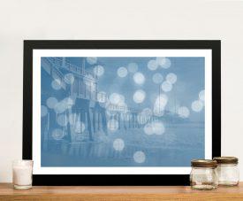 Jennette's Pier Framed Abstract Seascape Art