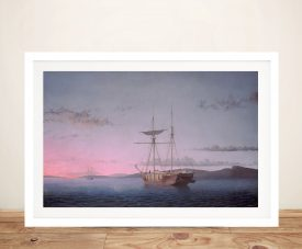 Lumber Schooners at Evening Print on Canvas