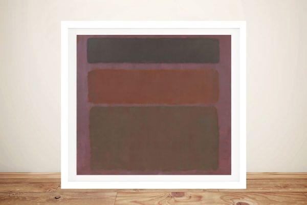 No.16 Framed Mark Rothko Canvas Print