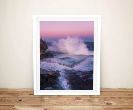 Buy Ocean Pool Splash Framed Canvas Art