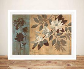 Romantic Magnolias Framed Floral Wall Art