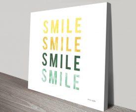 Smile Smile Kids Wall Art by Ann Kelle
