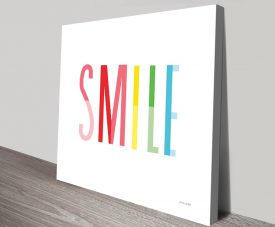 Ann Kelle Smile Colourful Print on Canvas